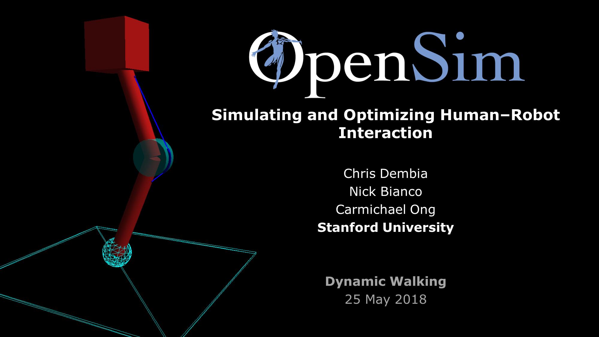 Dynamic Walking 2018 - OpenSim Documentation
