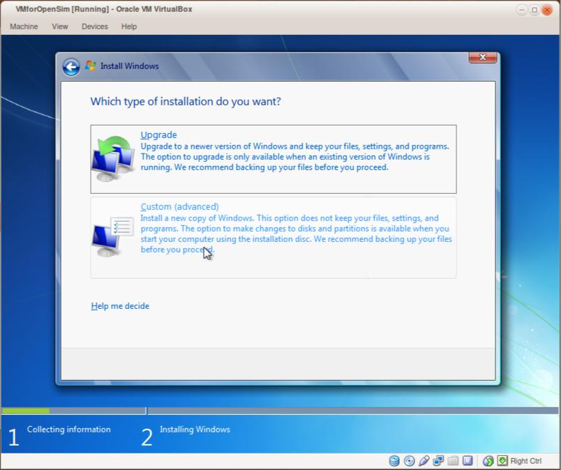 Running OpenSim on Mac OS X or Linux using a Windows Virtual